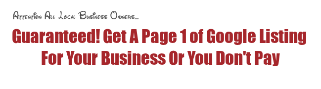 performance based seo services to get page 1 Google rankings or do not pay