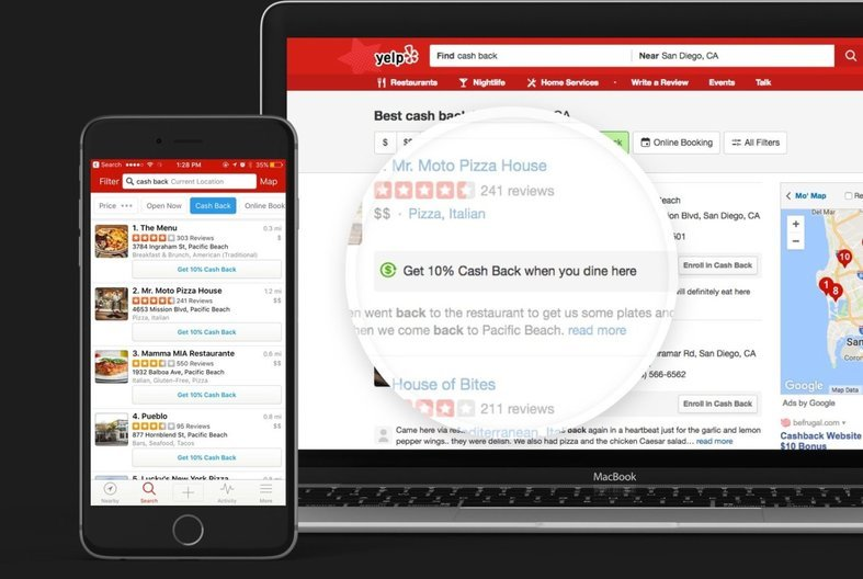 Example of Yelp Advertised Offer
